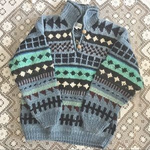 Amos & Andes wool chunky knit sweater